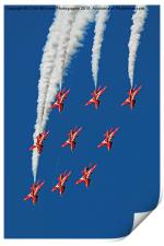 The Red Arrows RIAT 2015 12, Print