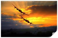The Two Lancasters at Sunset 1, Print