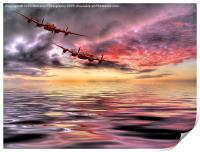 Out Of The Sunset - The 2 Lancasters 3, Print