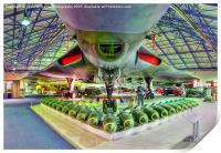 Vulcan and Bombs - R.A.F. Museum Hendon 2, Print