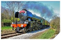 The flying Scotsman on the  KWVR - 1, Print