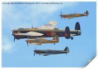 The Battle Of Britain Memorial Flight - RIAT 3, Print
