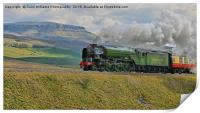 Tornado 60163 and Pen-y-Ghent Yorkshire - 1, Print