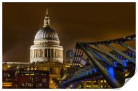 St Pauls and the Millennium Bridge, Print