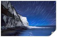 White Cliffs of Dover on a Starry Night, Print