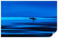 Abstract Lone Surfer, Print