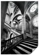 A Stairwell in the Louvre Museum, Paris, Print