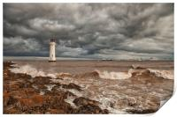 LIGHTHOUSE!!!! ( Perch Rock Before The Storm ), Print