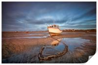 """""""CATCHING THE LIGHT Pt1 (Boats on the shore), Print"""