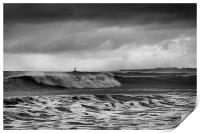 Rough sea and stormy sky, Print