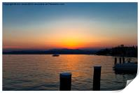 Sunset on Lake Garda, Print