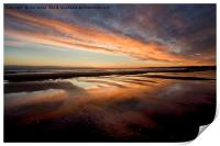 Wet sand reflections., Print