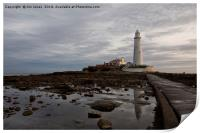 St Mary's Lighthouse reflections, Print