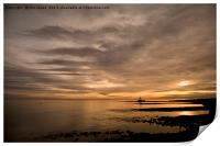 Golden Dawn at St Mary's Island, Print