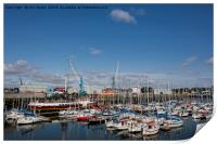 The Marina at South Harbour in Blyth, Print