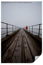 Wooden pier disappearing into the fog, Print