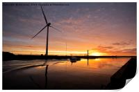 October Sunrise on the River Blyth (2), Print