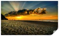 Sunset Puka beach, Print