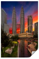 Petronas Towers Sunset, Print