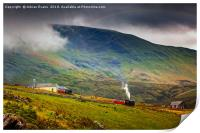 Steam Trains To The Summit, Print