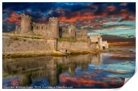 Conwy Castle Sunset, Print