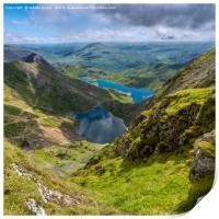 Footpaths from Snowdon Mountain, Print