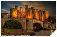 Lights On Conwy Castle, Print