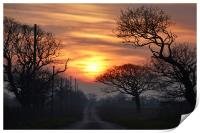 Sunset over Ringstead, Print