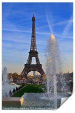 The Eiffel Tower from Trocadero, Print