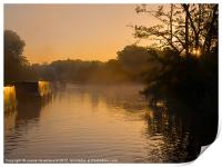 Misty morning on the Grand Union Canal, Print