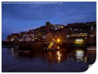 Whitby Lower Harbour and the RNLI Lifeboat Station, Print