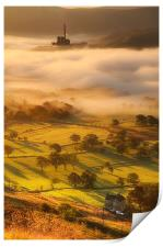 Golden mists over castleton 2, Print