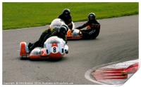 Racing sidecar at Snetterton racetrack, Print