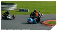 Racing sidecar at Snetterton racetrack , Print
