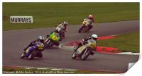 Racing bikes at Snetterton racetrack , Print