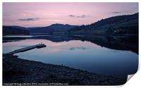 Ladybower Reservoir at Dusk, Print