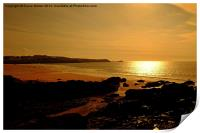 Fistral Beach Sunset, Print