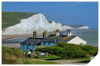 The Seven Sisters from Cuckmere Haven., Print
