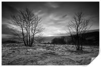 Hope Valley Black and White, Print