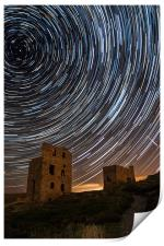 Perseids Over Wheal Coates, Print