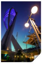 Portsmouths Spinnaker Tower Illuminated at dusk, Print