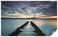 Forth Road bridge sunset, Print