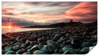 Dunstanburgh castle sunrise, Print