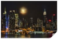 Super Moon Over NYC, Print