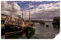 Mevagissey Harbour in Cornwall, Print