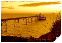 Evening view of Clevedon pier, Print