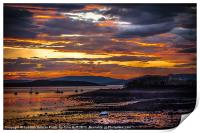 Sunset at Fairlie on the Clyde, Print