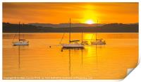 Summer Sunset on the River Clyde, Print