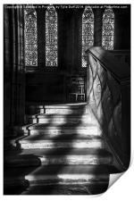 Sunlight on Stairs Glasgow Cathedral, Print