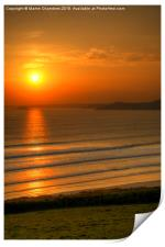 Sunset from Newgale, Pembrokeshire, Print